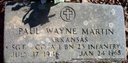 MARTIN  (VETERAN), PAUL WAYNE - Scott County, Arkansas | PAUL WAYNE MARTIN  (VETERAN) - Arkansas Gravestone Photos
