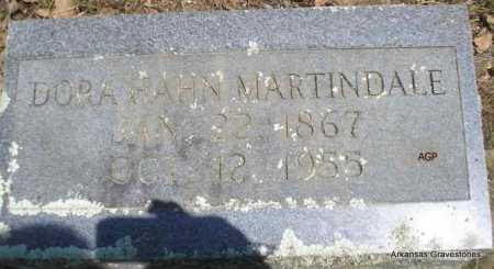 HAHN MARTINDALE, DORA - Scott County, Arkansas | DORA HAHN MARTINDALE - Arkansas Gravestone Photos