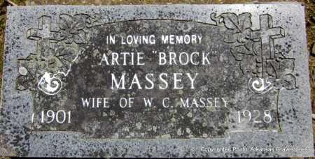 BROCK MASSEY, ARTIE - Scott County, Arkansas | ARTIE BROCK MASSEY - Arkansas Gravestone Photos