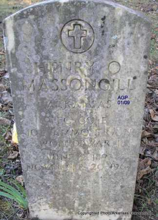 MASSONGILL   (VETERAN WWI), HENRY O - Scott County, Arkansas | HENRY O MASSONGILL   (VETERAN WWI) - Arkansas Gravestone Photos