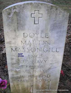 MASSONGILL  (VETERAN 2 WARS), DOYLE MARTIN - Scott County, Arkansas   DOYLE MARTIN MASSONGILL  (VETERAN 2 WARS) - Arkansas Gravestone Photos