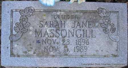 STAGGS MASSONGILL, SARAH JANE - Scott County, Arkansas | SARAH JANE STAGGS MASSONGILL - Arkansas Gravestone Photos