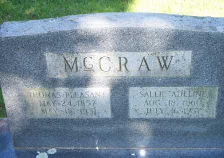 MCCRAW, THOMAS PLEASANT - Scott County, Arkansas | THOMAS PLEASANT MCCRAW - Arkansas Gravestone Photos