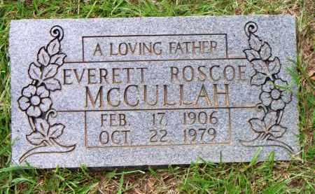 MCCULLAH  (2ND STONE), EVERETT ROSCOE - Scott County, Arkansas | EVERETT ROSCOE MCCULLAH  (2ND STONE) - Arkansas Gravestone Photos