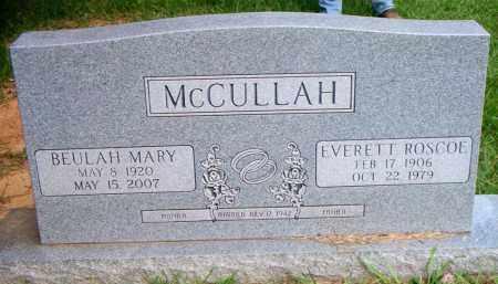 MCCULLAH, EVERETT ROSCOE - Scott County, Arkansas | EVERETT ROSCOE MCCULLAH - Arkansas Gravestone Photos