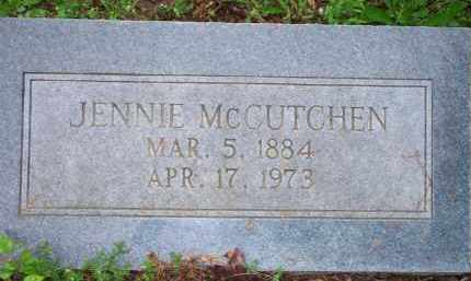 MCCUTCHEN, JENNIE - Scott County, Arkansas   JENNIE MCCUTCHEN - Arkansas Gravestone Photos