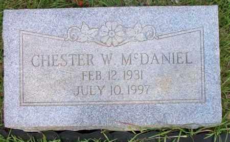 MCDANIEL, CHESTER W - Scott County, Arkansas | CHESTER W MCDANIEL - Arkansas Gravestone Photos