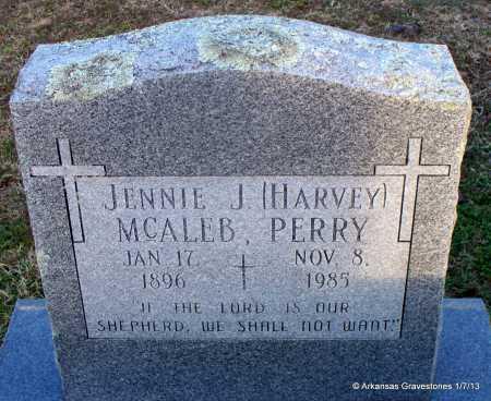 HARVEY MCALEB, JENNIE J - Scott County, Arkansas | JENNIE J HARVEY MCALEB - Arkansas Gravestone Photos