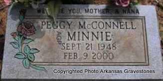 "MCCONNELL, PEGGY ""MINNIE"" - Scott County, Arkansas   PEGGY ""MINNIE"" MCCONNELL - Arkansas Gravestone Photos"