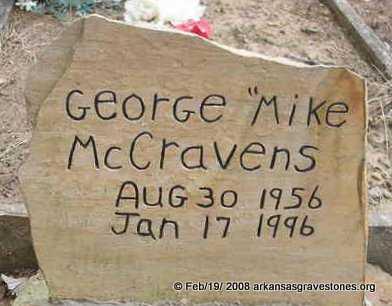 "MCCRAVENS, GEORGE ""MIKE"" - Scott County, Arkansas   GEORGE ""MIKE"" MCCRAVENS - Arkansas Gravestone Photos"