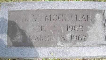MCCULLAH, J  M - Scott County, Arkansas   J  M MCCULLAH - Arkansas Gravestone Photos