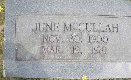 MCCULLAH, JUNE - Scott County, Arkansas | JUNE MCCULLAH - Arkansas Gravestone Photos