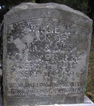 MCCURRY, WILLIE  H - Scott County, Arkansas | WILLIE  H MCCURRY - Arkansas Gravestone Photos