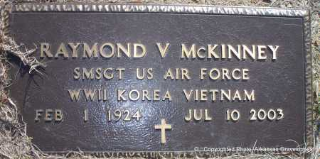 MCKINNEY  (VETERAN 3 WARS), RAYMOND V - Scott County, Arkansas | RAYMOND V MCKINNEY  (VETERAN 3 WARS) - Arkansas Gravestone Photos