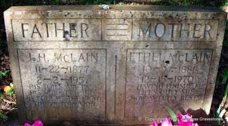 MCLAIN, J  H - Scott County, Arkansas | J  H MCLAIN - Arkansas Gravestone Photos