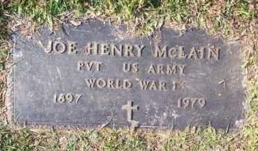MCLAIN (VETERAN WWI), JOE HENRY - Scott County, Arkansas   JOE HENRY MCLAIN (VETERAN WWI) - Arkansas Gravestone Photos