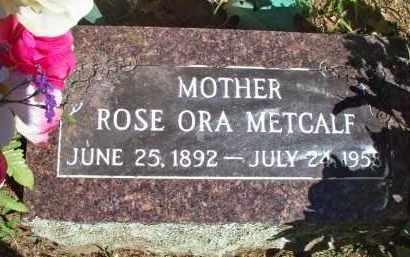 METCALF, ROSE ORA - Scott County, Arkansas | ROSE ORA METCALF - Arkansas Gravestone Photos