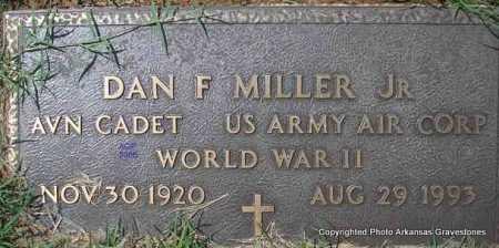MILLER, JR  (VETERAN WWII), DAN F - Scott County, Arkansas | DAN F MILLER, JR  (VETERAN WWII) - Arkansas Gravestone Photos