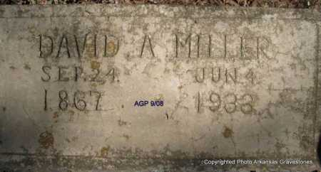 MILLER, DAVID A - Scott County, Arkansas | DAVID A MILLER - Arkansas Gravestone Photos