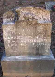 MILLER, ED - Scott County, Arkansas   ED MILLER - Arkansas Gravestone Photos
