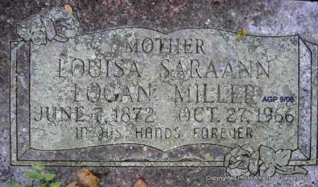 LOGAN MILLER, LOUISA SARA ANN - Scott County, Arkansas | LOUISA SARA ANN LOGAN MILLER - Arkansas Gravestone Photos