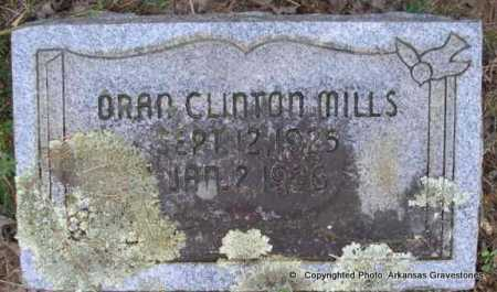 MILLS, ORAN CLINTON - Scott County, Arkansas | ORAN CLINTON MILLS - Arkansas Gravestone Photos