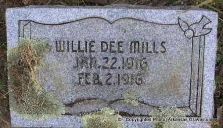 MILLS, WILLIE DEE - Scott County, Arkansas | WILLIE DEE MILLS - Arkansas Gravestone Photos