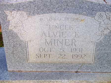 MINER, ALVIE E - Scott County, Arkansas | ALVIE E MINER - Arkansas Gravestone Photos
