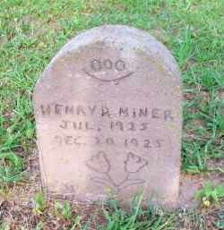 MINER, HENRY R - Scott County, Arkansas | HENRY R MINER - Arkansas Gravestone Photos