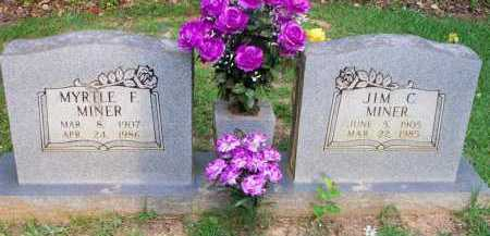 MINER, MYRTLE F - Scott County, Arkansas | MYRTLE F MINER - Arkansas Gravestone Photos