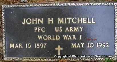 MITCHELL  (VETERAN WWI), JOHN H - Scott County, Arkansas | JOHN H MITCHELL  (VETERAN WWI) - Arkansas Gravestone Photos