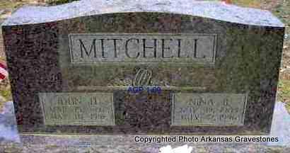 MITCHELL, NINA B - Scott County, Arkansas   NINA B MITCHELL - Arkansas Gravestone Photos