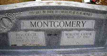 MONTGOMERY, REV  CECIL - Scott County, Arkansas | REV  CECIL MONTGOMERY - Arkansas Gravestone Photos