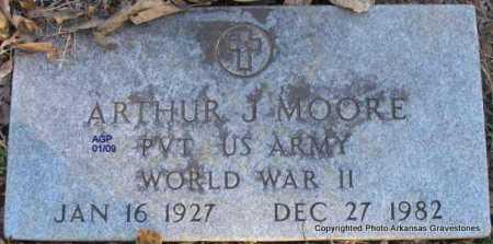 MOORE  (VETERAN WWII), ARTHUR J - Scott County, Arkansas | ARTHUR J MOORE  (VETERAN WWII) - Arkansas Gravestone Photos