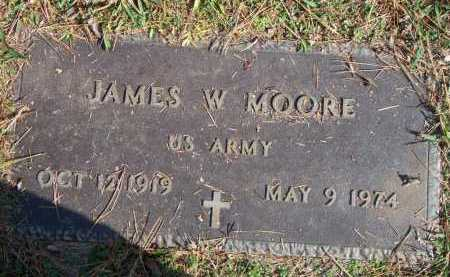 MOORE (VETERAN), JAMES WILLIE - Scott County, Arkansas | JAMES WILLIE MOORE (VETERAN) - Arkansas Gravestone Photos