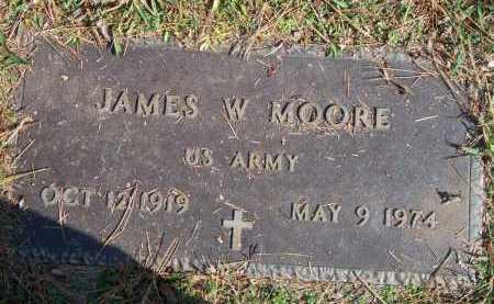 MOORE (VETERAN), JAMES WILLIE - Scott County, Arkansas | JAMES WILLIE MOORE (VETERAN) - Arkansas Gravestone Photos