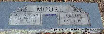 MOORE, ORA LEE - Scott County, Arkansas | ORA LEE MOORE - Arkansas Gravestone Photos