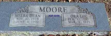 MOORE, MELBA DEAN - Scott County, Arkansas | MELBA DEAN MOORE - Arkansas Gravestone Photos