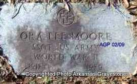 MOORE (VETERAN WWII), ORA LEE - Scott County, Arkansas | ORA LEE MOORE (VETERAN WWII) - Arkansas Gravestone Photos