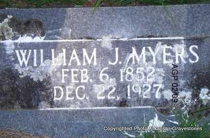MYERS, WILLIAM J - Scott County, Arkansas | WILLIAM J MYERS - Arkansas Gravestone Photos