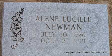 NEWMAN, ALENE LUCILLE - Scott County, Arkansas | ALENE LUCILLE NEWMAN - Arkansas Gravestone Photos