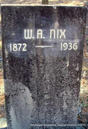 NIX, W A - Scott County, Arkansas   W A NIX - Arkansas Gravestone Photos