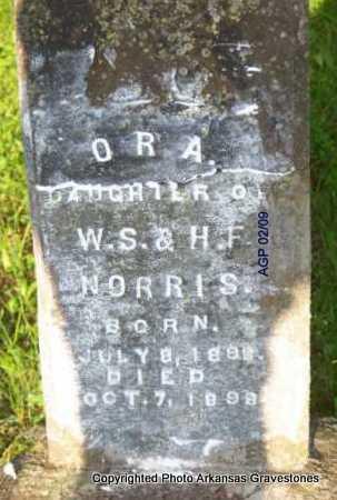 NORRIS, ORA - Scott County, Arkansas   ORA NORRIS - Arkansas Gravestone Photos