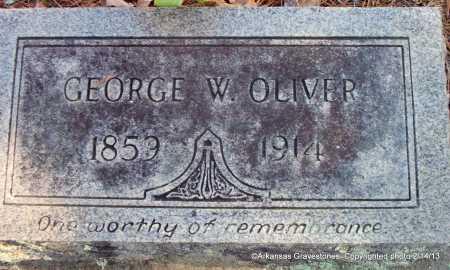 OLIVER, GEORGE W - Scott County, Arkansas   GEORGE W OLIVER - Arkansas Gravestone Photos