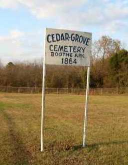* CEDAR GROVE SIGN,  - Scott County, Arkansas |  * CEDAR GROVE SIGN - Arkansas Gravestone Photos