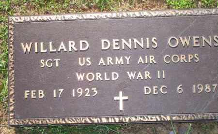 OWENS  (VETERAN  WWII), WILLARD DENNIS - Scott County, Arkansas   WILLARD DENNIS OWENS  (VETERAN  WWII) - Arkansas Gravestone Photos