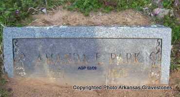 PARK, AMANDA E - Scott County, Arkansas | AMANDA E PARK - Arkansas Gravestone Photos