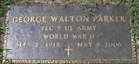 PARKER  (VETERAN WWII), GEORGE WALTON - Scott County, Arkansas | GEORGE WALTON PARKER  (VETERAN WWII) - Arkansas Gravestone Photos