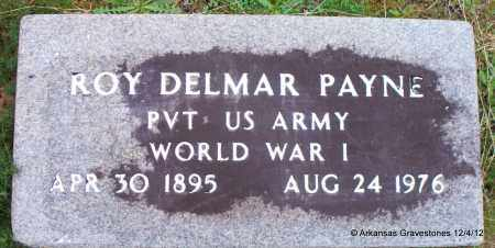 PAYNE (VETERAN WWI), ROY DELMAR - Scott County, Arkansas | ROY DELMAR PAYNE (VETERAN WWI) - Arkansas Gravestone Photos