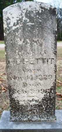 PETTIT, MARY - Scott County, Arkansas   MARY PETTIT - Arkansas Gravestone Photos